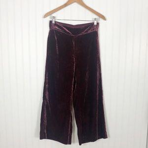 Madewell Pants - Madewell Velvet Huston Pull-on Crop Pants